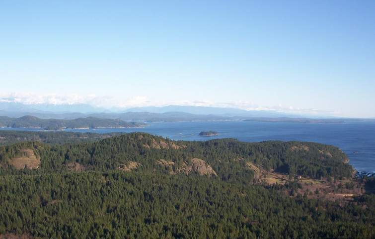 Chinese Mountains - View of other islands, with Cortes Island in the distance