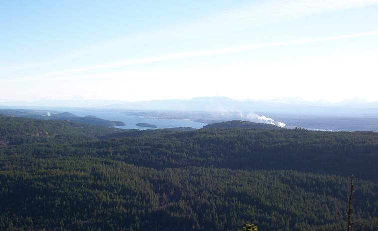Chinese Mountains - View of Campbell River